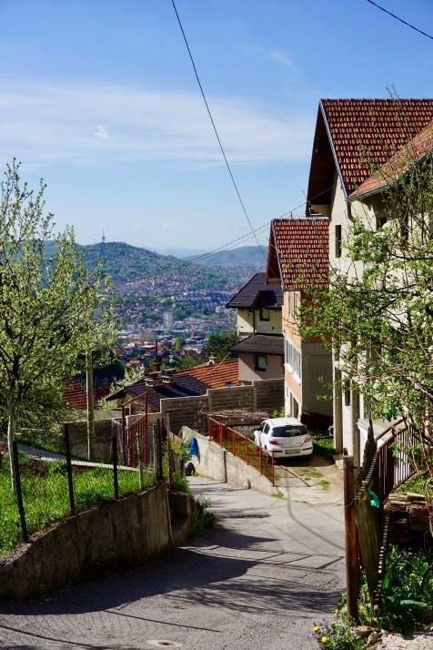 Sarajevos Häuser liegen am Hang