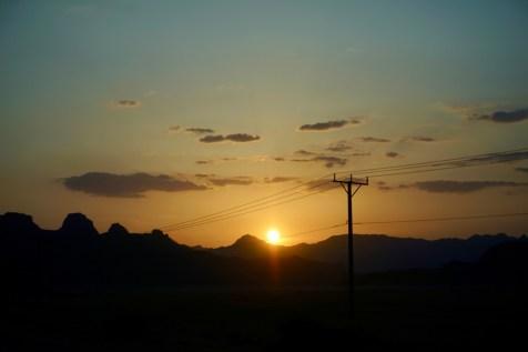 Wunderschöner Sonnenuntergang in Jordanine