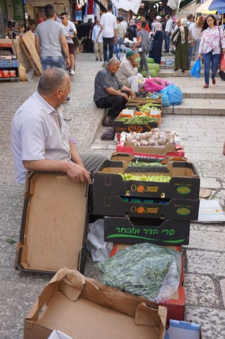 Verkauf von Obst auf der Straße
