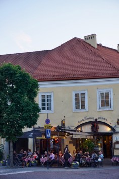 Lokales Bier wird in Vilnius angeboten