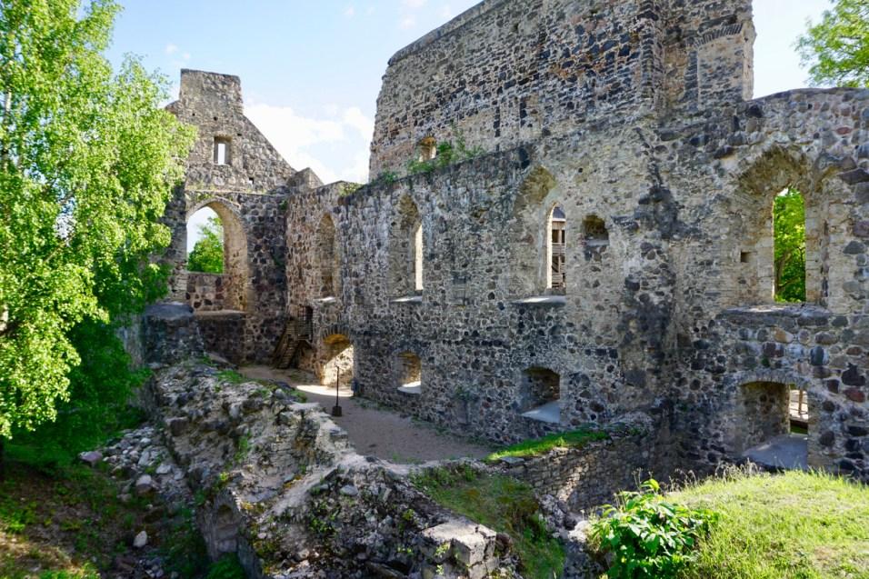 Burg-Ruinen in Lettland