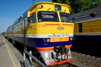 Zugfahrt in Lettland