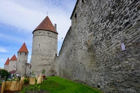 Historische Festungsmauer mit Türmen