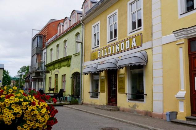 Bunte Häuser in der Fußgängerzone