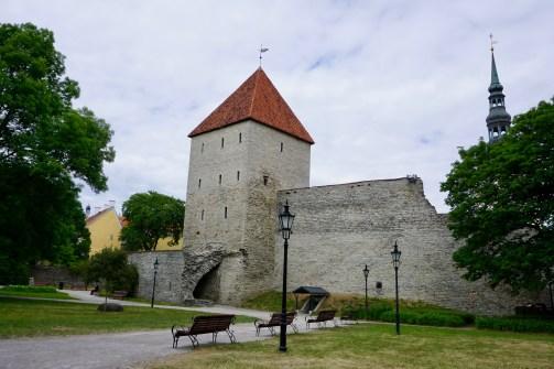 Stadtmauer in Estland