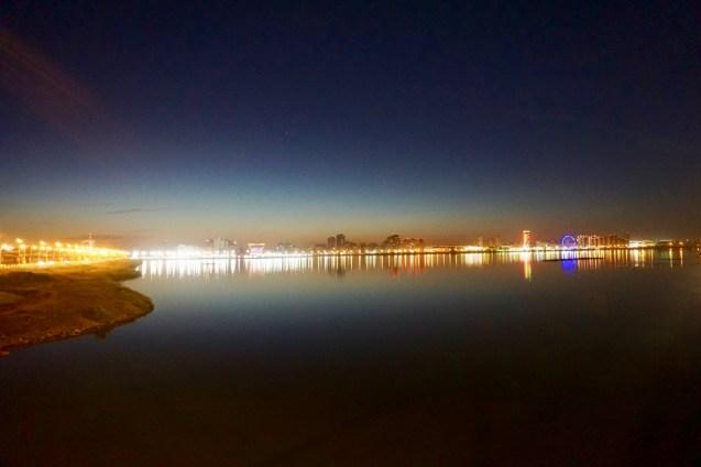Beleuchtete Skyline