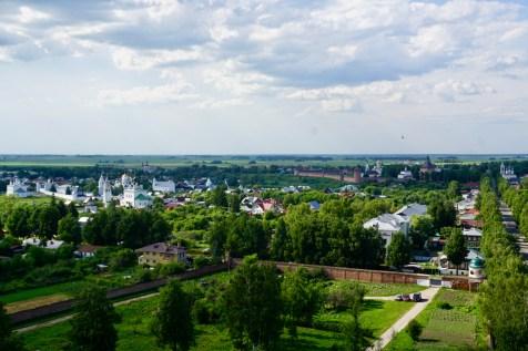 Ausblick auf Wiesen und Kathedralen