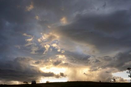 Sonnenuntergang und Abendhimmel auf Olchon-Insel