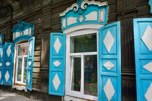 Holzhaus in Sibirien