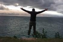 Abend am Baikal-See