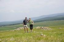 Grüne Wiesen am Baikal-See