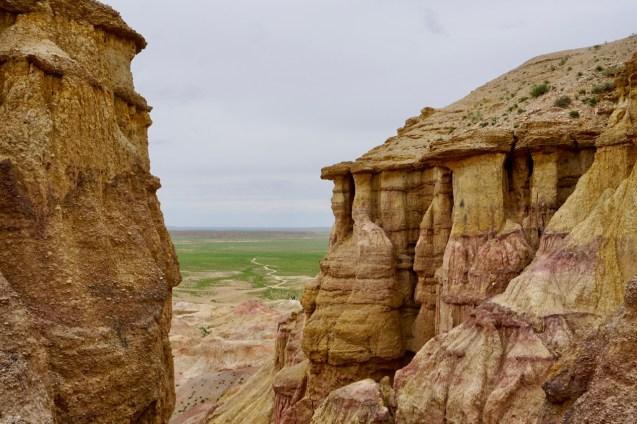 Gesteinsformation White Stupa Gobi-Wüste