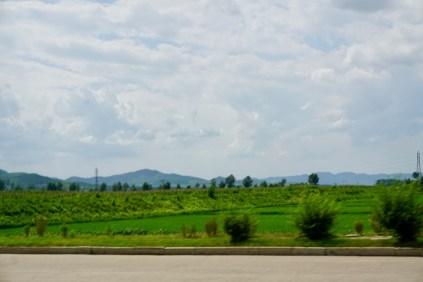 Felder in Nordkorea