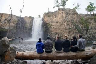 Regen am Wasserfall