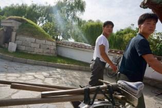 Fahrrad ist das Haupttransportmittel in Nordkorea
