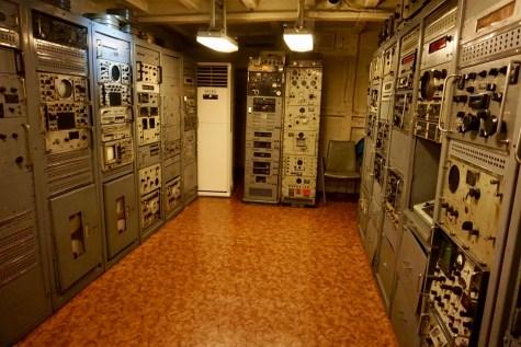 Kommandoraum eines US Kriegsschiffes