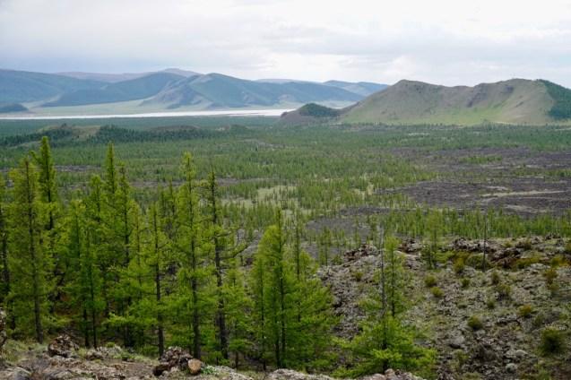 Lavafelder in Zentralmongolei