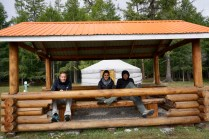 Freizeit in Holzhaus