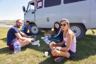 Mittagessen während einer Tour