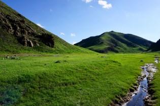 Grünes Flussbett im Yol Valley