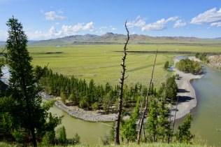Flusslauf in der Mongolei