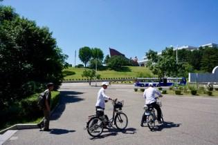Nordkoreaner auf dem Weg zur Probe