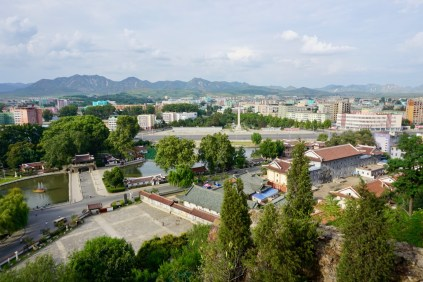 Stadt in Nordkorea von oben