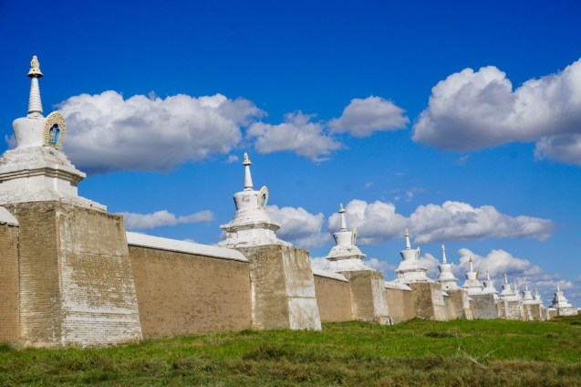 Stupa im buddhistischem Tempel