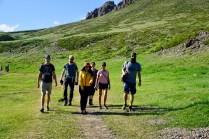 Touristen im Yol Valley