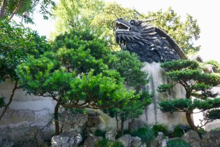 Drachenkopf im Yuyuan-Garten