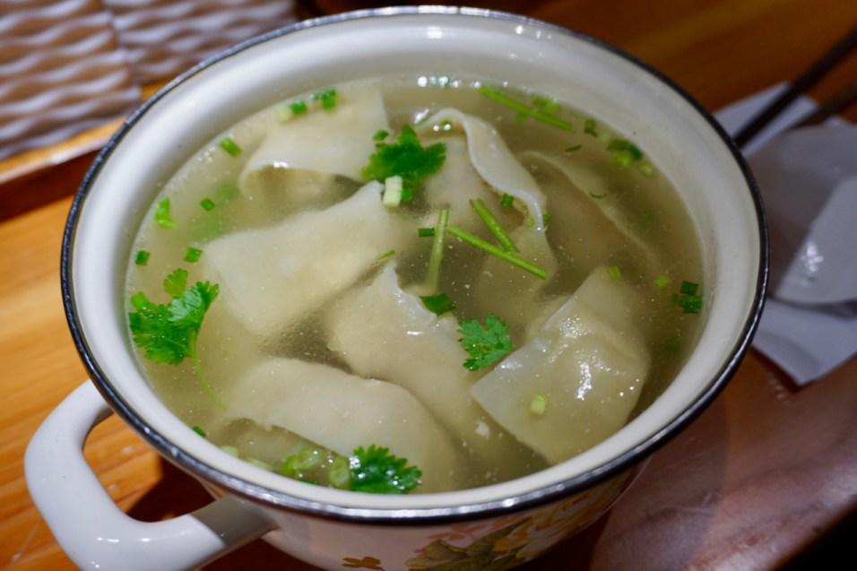 Dumplings mit Suppe