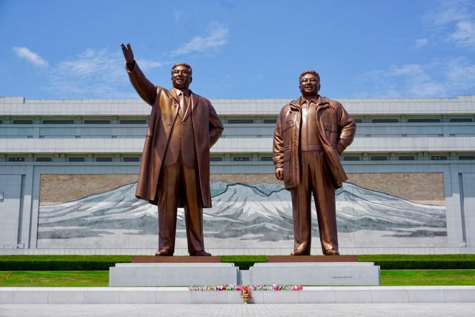 Die Führer Nordkoreas als Denkmal