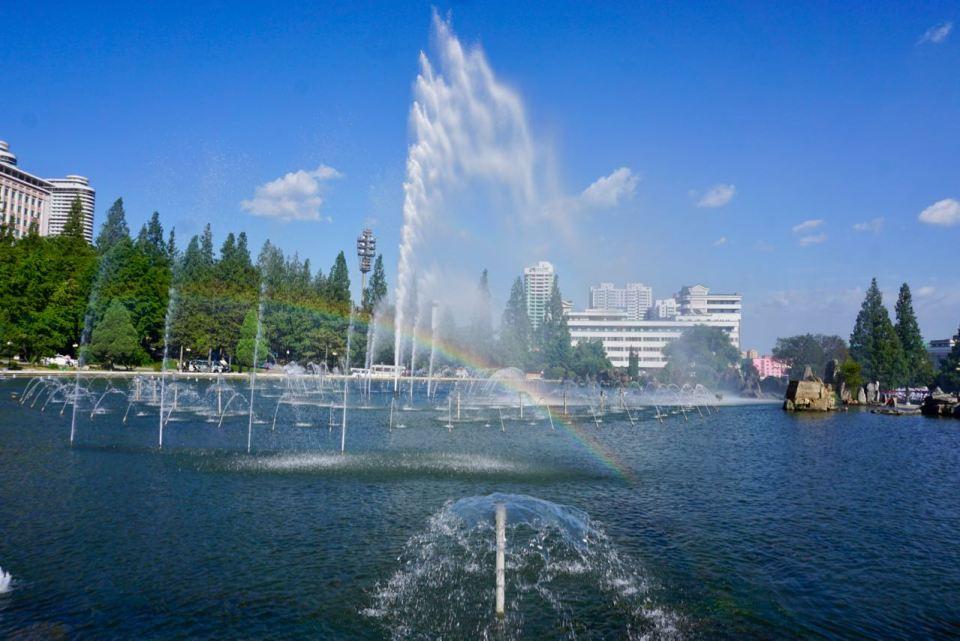 Springbrunnen in Nordkorea