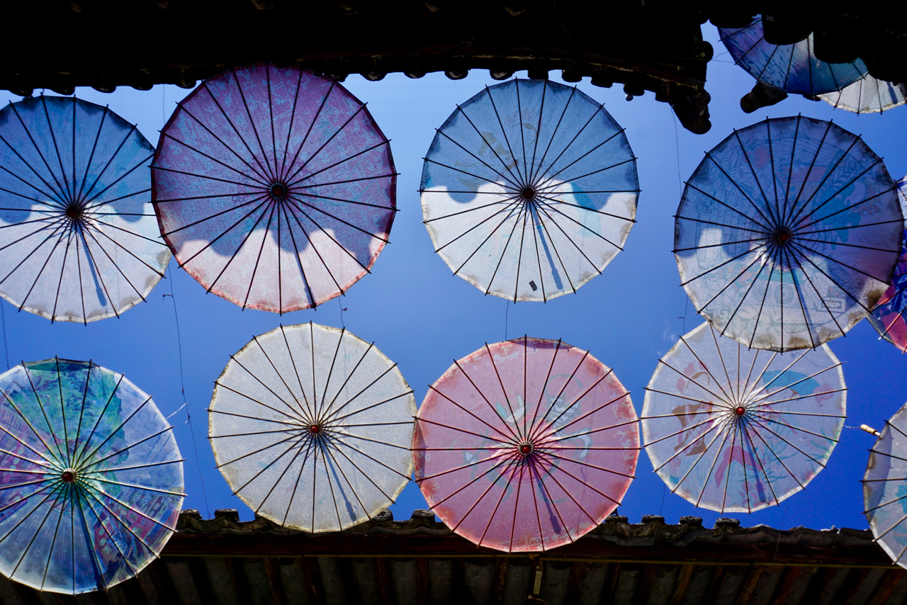 Sonnenschirm-Dekoration