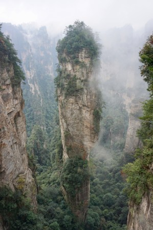 Nebel im Zhangjiajie
