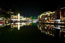 Nachtszene in Fenghuang