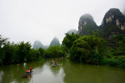 Bambus-Floß