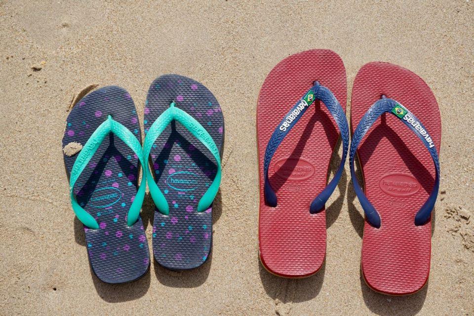Hawaianas am Strand