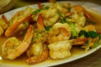 Shrimps in Curry-Soße