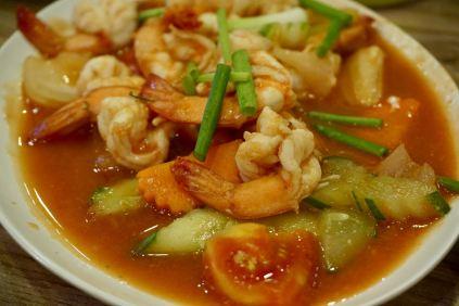 Shrimps in süß-saurer Soße