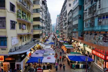 Strassenmarkt in Hongkong