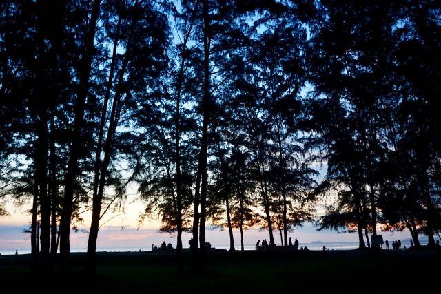 Sonnenuntergang am Health Park