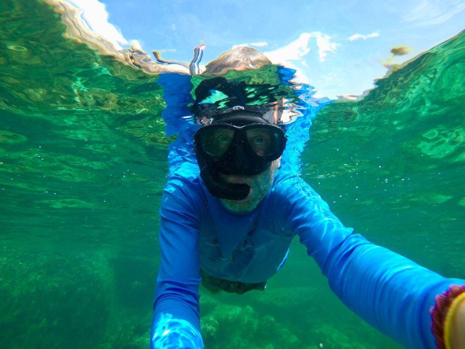Unterwasser-Selfie