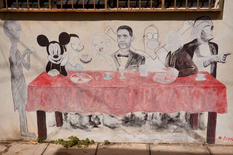 Street Art mit Mickey Mouse