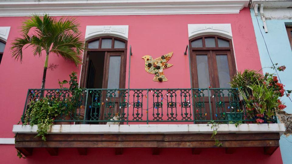Friedenstaube am Balkon