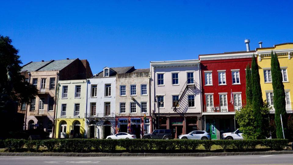 Bunte Häuserfassade
