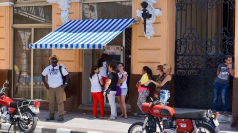 Geldautomat in Santiago de Cuba