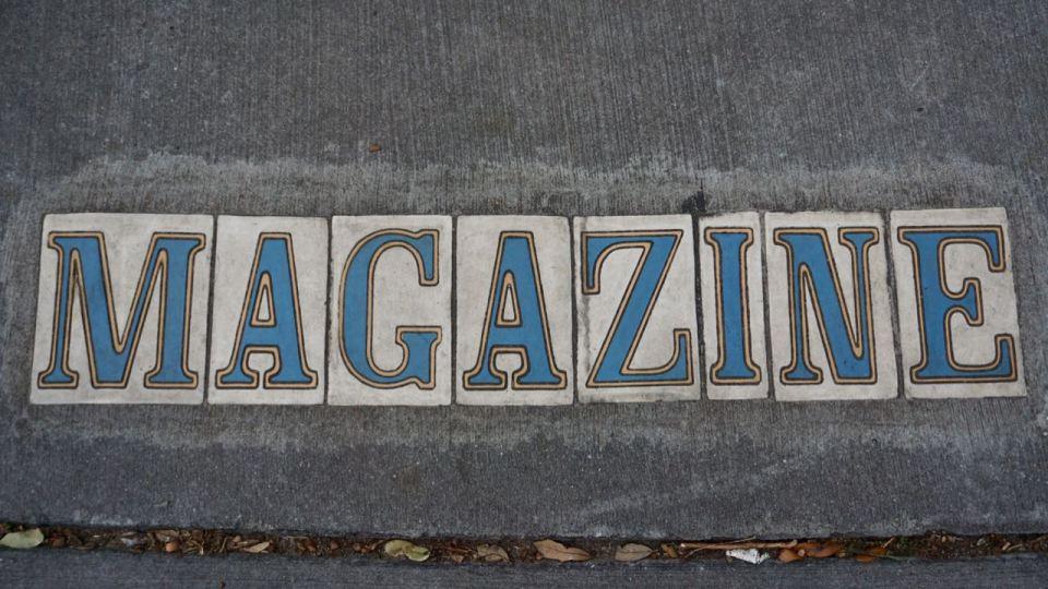 Schriftzug Magazine Street