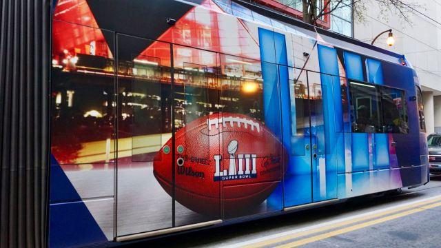 Super Bowl Straßenbahn