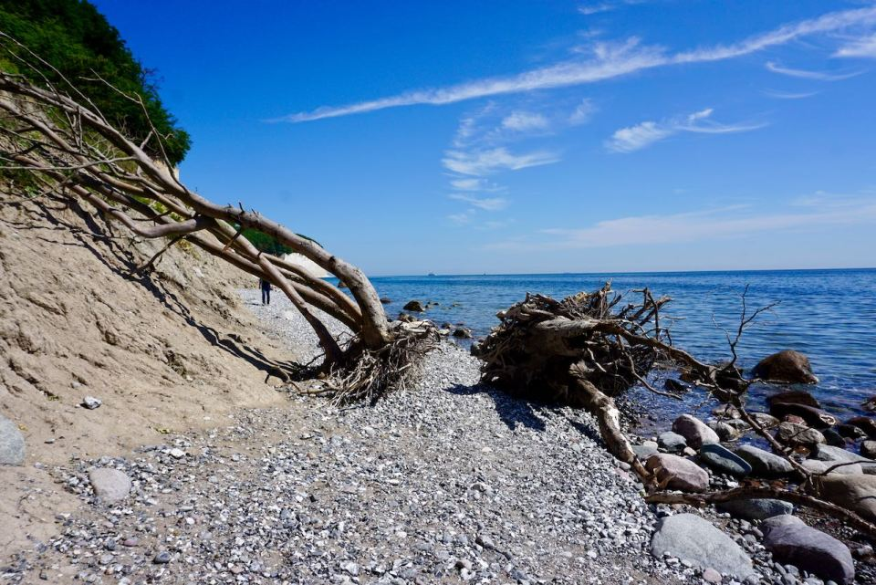 Strand am Kreidefelsen